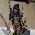 Female Barbarian Chief w/paired weapons