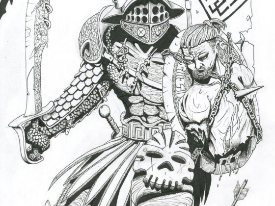 Barbarian Chieftain by Veli-Matti Pajuniemi