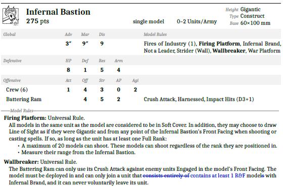 Infernal Bastion Unit