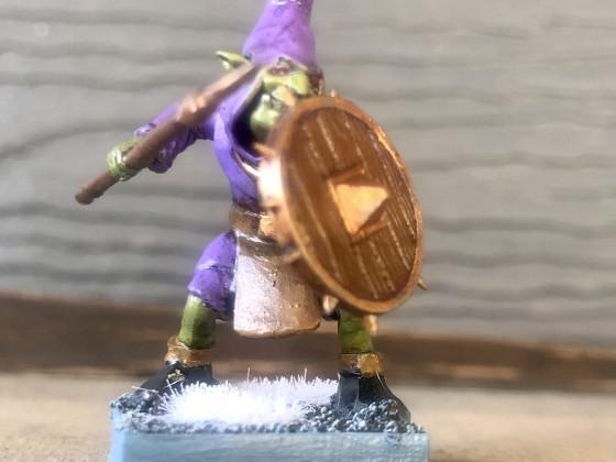 Hobgoblin spear and shield