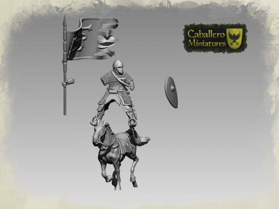 11th Century Spanish knight by Caballero Miniatures