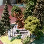 Forest with altar