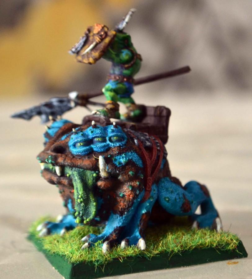 Goblin king dart toad (huntsmen spider)
