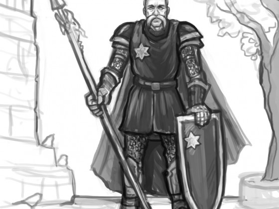 (WIP) Duke Roquerre - Commissioned from Shane Mercer