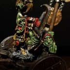 Goblin cheif on wolf chariot
