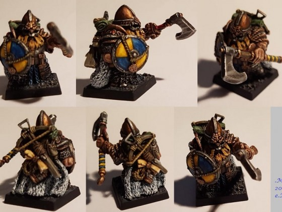 Prototype Norse Dwarf converted and painted by me for my brother's Dwarf army