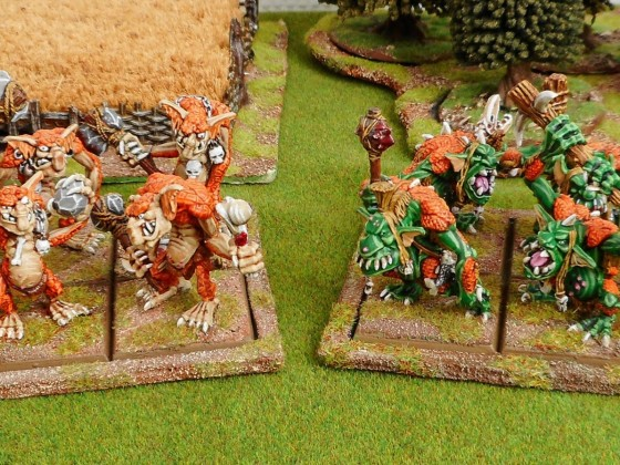 Orcs and Goblins - 16 Trolls ready to puke on the ennemy