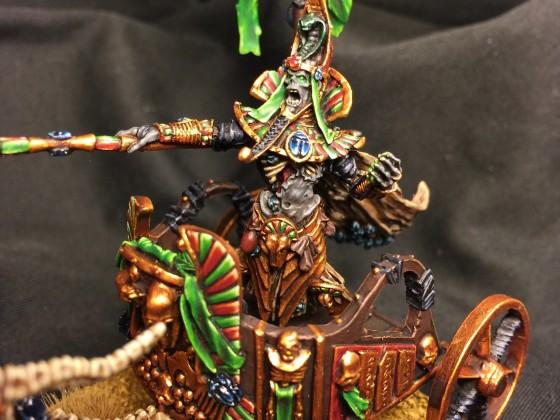 Pharaoh in royal chariot