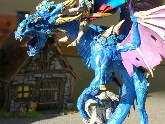 Warpfyre Dragon with Highborn Prince/Commander