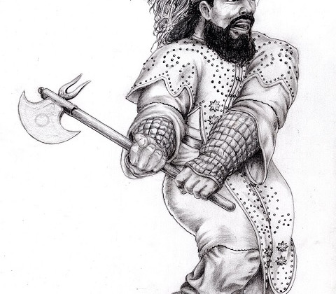 Kegiz Gavem Dwarf Axeman by Paulus Indomitus