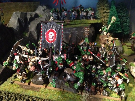 Orc 'Eadbashers with Spear and Shield (and some animosity)